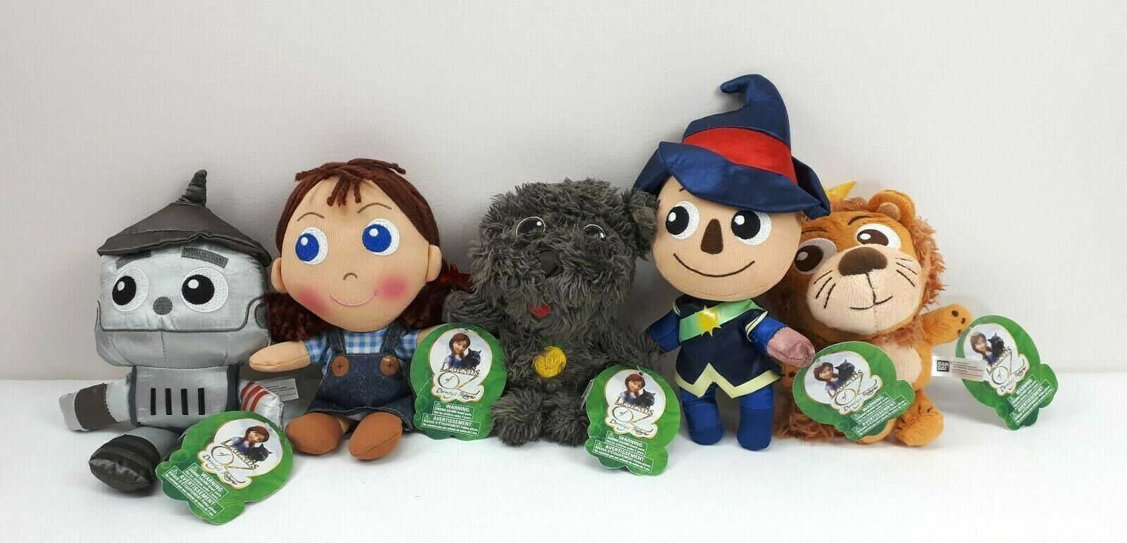 Primary image for Bandai Legends of Oz Dorothy's Return Plush Lot of 5 Character Dolls Movie 8""