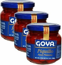 Goya Piquillo Peppers Fancy Pimientos 6.7oz each Pack of 3 jars - $21.77