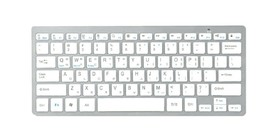 Actto Korean English Bluetooth Slim Keyboard Wireless Compact 10keyless (Silver)