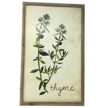 TX USA Corporation Wooden Rectangle Thyme Decorative Wall Sign - Multico... - $28.02