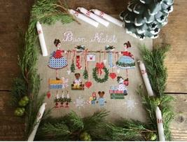 Pacchi Regalo e Rami di Pino christmas cross stitch chart Lilli Violette - $12.60