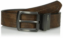 NEW Levi's Men's 38MM Premium Classic Stylish Reversible Leather Belt 11LV2223 image 1