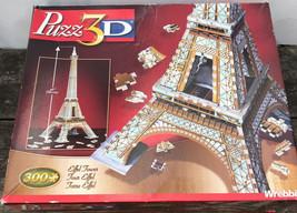 """Wrebbit 3D Puzzle 26"""" Eiffel Tower 300 Pieces Complete - $14.25"""