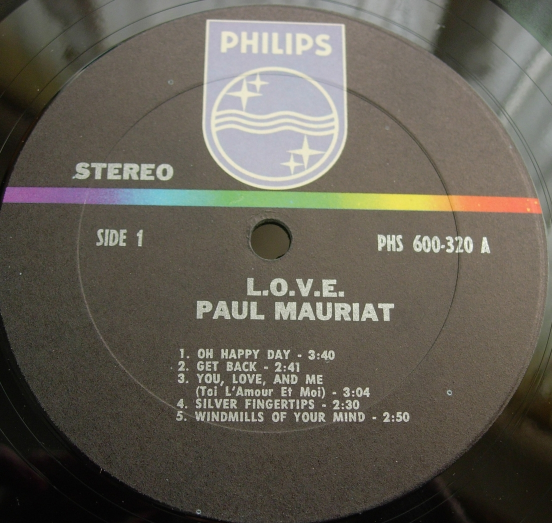 Paul Mauriat & His Orchestra - L.O.V.E. - Philips PHS 600-320