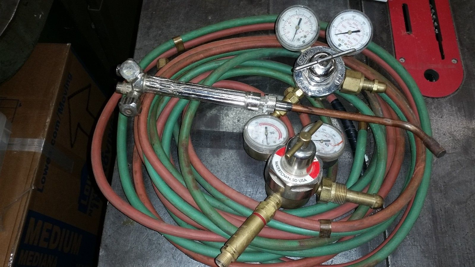 Miller Smith medium duty oxy acetylene gas welding & cutting torch outfit 3