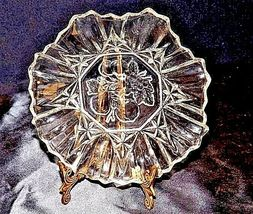 Cut Glass with Detailed Etched Design AA18-11909 VintageHeavy image 6