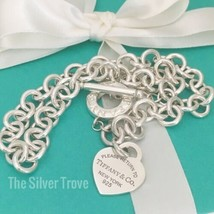 "16"" Please Return to Tiffany & Co Silver Toggle Heart Tag Necklace - $389.00"