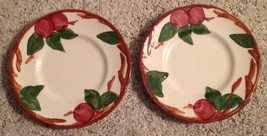 "Franciscan Plate Set 2 Earthenware USA Apple Pattern 6.5"" Vintage - $12.82"