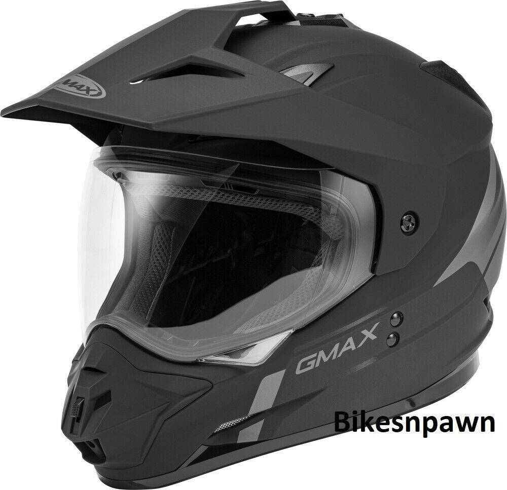 New XL GMax GM-11 Scud Matt Black/Gray Dual Sport Adventure Helmet DOT