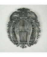 Crest Brooch Pin Sterling Silver 925 Unsigned Family Coat of Arms 3 inch... - $89.09