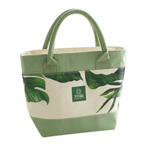Nistova® LunchBox New Insulation Food Bags For Women Fresh Leaves Canvas... - $21.56
