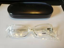 NEW Fendi Women Eyeglasses FF898 000 Clear 51 15 140 Full Rim Rectangle W/ CASE - $28.71
