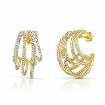 Multi Wrap Circle Hoop Earring Gold Filled Gorgeous Luxury Fashion Jewel... - $20.69