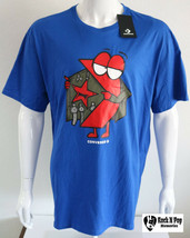 Mens Converse Graphic Tee  T Shirt Chevron Logo Short Sleeve Blue Cotton... - $25.67