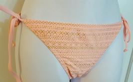 Candies Swim Bikini Scoop Bottom Side Ties Coral Gold Swimsuit Size XS S M - $9.99