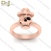 Gangster Skull Engagement Ring Pirates Skull Wedding Ring Gothic Skull J... - $149.99