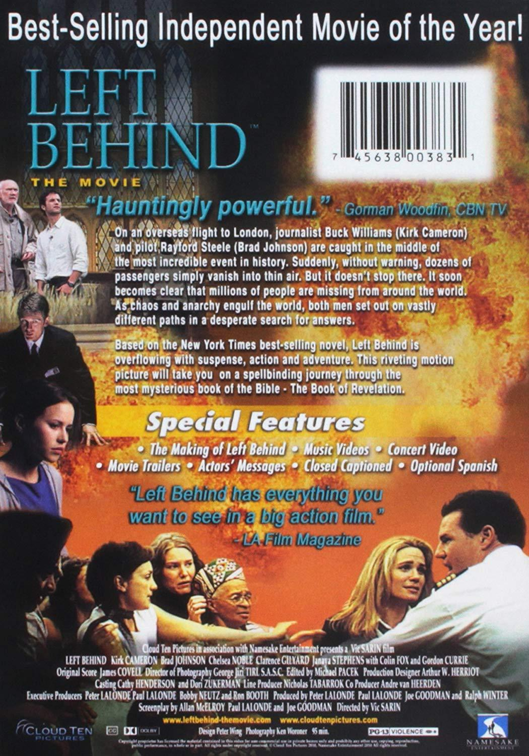 Left Behind - The Movie, DVD 2008, Kirk Cameron, FREE!