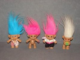 "Lot of 4 Troll Dolls: 3"" - $14.00"