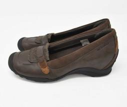 Merrell Eden Moc Multi Brown Women's Sz 9 EU 40 Leather Slip On Flats J46466 - $23.95