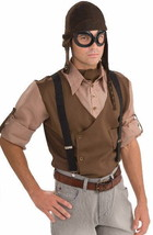 SteamPunk Cosplay WW I Aviator Style Brown Hat and Goggles Set, NEW UNWORN - $12.59