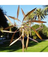 Copper Outdoor Windmills Large Kinetic Wind Sculpture Dual Side Wind Spinners - $240.00