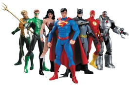 Justice League Collectible Action Figure 7 Pack - Batman Superman ready ... - $199.99