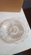"Anchor Hocking Glass Clear Wexford 3 part Divided 8 1/2"" Scalloped Platter Tray - $11.76"