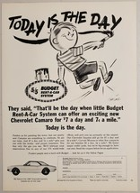 1966 Print Ad Budget Rent-A-Car System 1967 Chevrolet Camaro Chicago,Ill... - $11.56