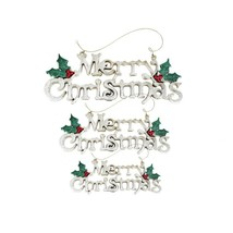 (size M)Merry Christmas Hanging Ornaments Crafts Merry Christmas Letter ... - $14.00