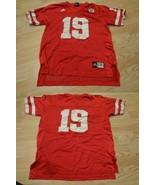 Youth Nebraska Cornhuskers #19 XL (18/20) Football Jersey (Red) Adidas J... - $20.56