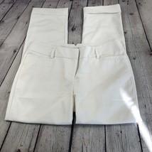 NWOT Express Women's White Columnist Pants Cuffed Pockets Size 6R - $45.20