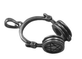 SALE Sterling Silver Gothic Chaos Pentagram DJ Earphones Headphone Charm... - $33.60