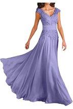 Blevla V Neck Prom Dress Chiffon Mother Of The Bride Dresses Lavender US 14 - $189.99