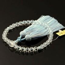 Buddhist Rosary Mala Juzu Prayer beads Japan Kyoto Matte crystal Aquamarine - $223.84