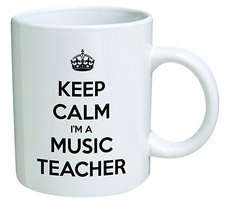 Keep Calm I'm a Music Teacher 11 OZ Coffee Mugs - Music Teacher Thank You Gift  - $13.95