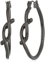 Robert Lee Morris Hematite Knot Hoop Earrings - $39.58