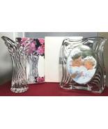 "Mikasa Crystal Japan 8"" Spring Flair Vase & 6.5"" Emotion Frame BOTH NEW IN BOX - $48.04 CAD"