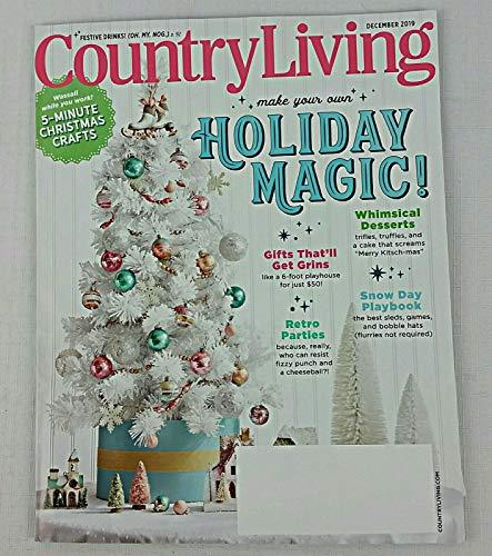 Primary image for COUNTRY LIVING MAGAZINE ~ Holiday Magic~ DECEMBER 2019 ( nO MAILING LABEL) [Sing