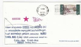 USSR SATELLITE COSMOS 248 INTERCEPTOR COLORADO SPRINGS CO 2/8/1970 #14/7... - $2.98