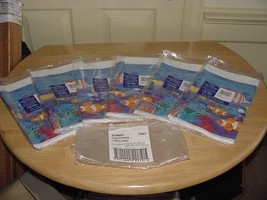 "6 - Amscan Plastic Tablecovers Coral Reef 579807 54""x102"" Blue Tropical Fish NEW - $35.00"