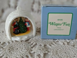Avon Winter Fun Winter Igloo Tree Ornament 1983 - $6.78