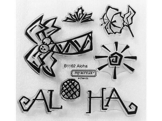 Close to My Heart Aloha Clear Acrylic Stamp Set #B1162