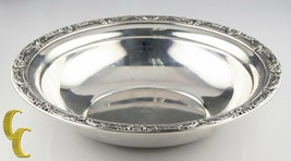 Reed & Barton Large Sterling Silver Bowl w/ Floral Rim X745 Minor Scratches - $259.88