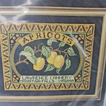 Vintage 1992 Janlynn Counted Cross Stitch Kit 81-25 APRICOT CANNERY LABE... - $14.03
