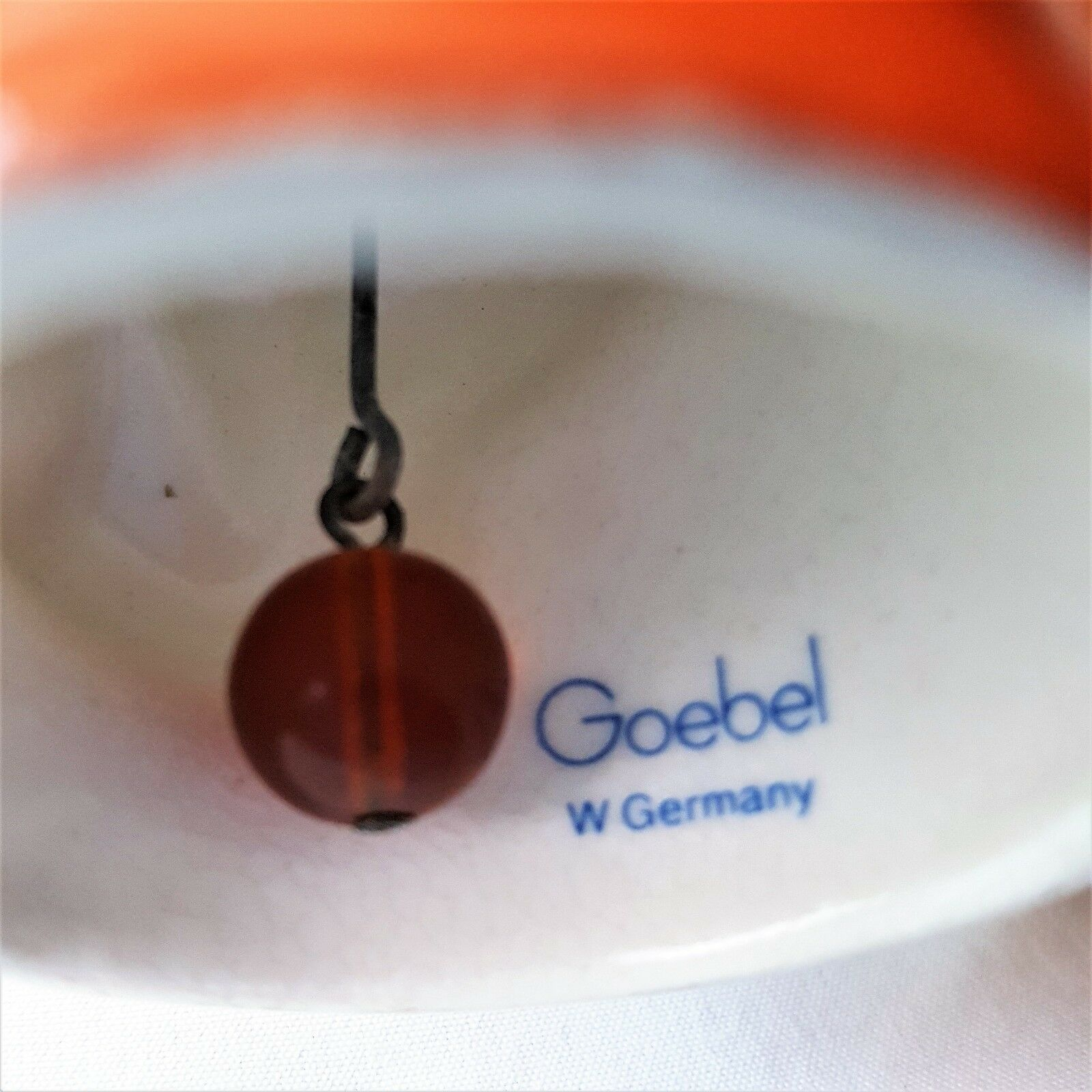 Goebel West Germany Angel Playing Trumpet Bell Ornament 1980 Signed BK
