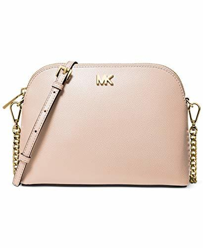 Michael Kors Large Crossgrain Leather Dome Crossbody Bag (Soft Pink)