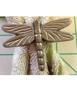 4 Dragonfly Napkin Rings Silver Pewter - $10.89