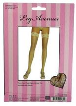 NEW LOT OF 6 LEG AVENUE WOMEN'S LACE THIGH HIGH HOSE STOCKINGS TIGHTS BEIGE 1011 image 3