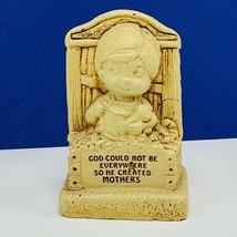 Paula 1975 figurine W445 God could not be everywhere so he created Mothe... - $16.35