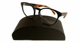 Prada Women's Black Brown Glasses with case VPR 16T 1AB-1O1 52mm - $185.99